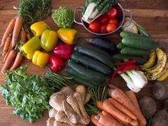 Geerntete abgeschriebene Bio-Lebensmittel